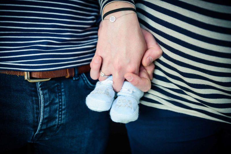 mini chaussons de nouveau né