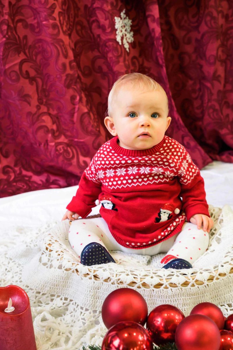 Bebe fille photo de Noel