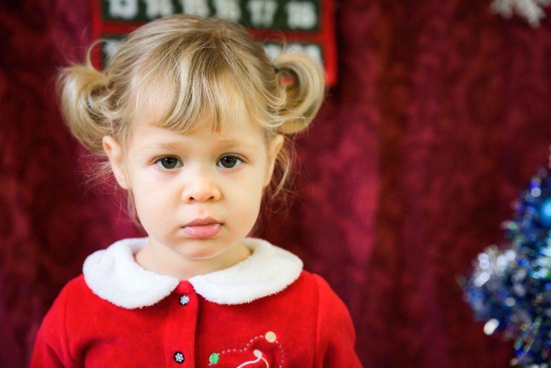 portrait bebe fille couettes