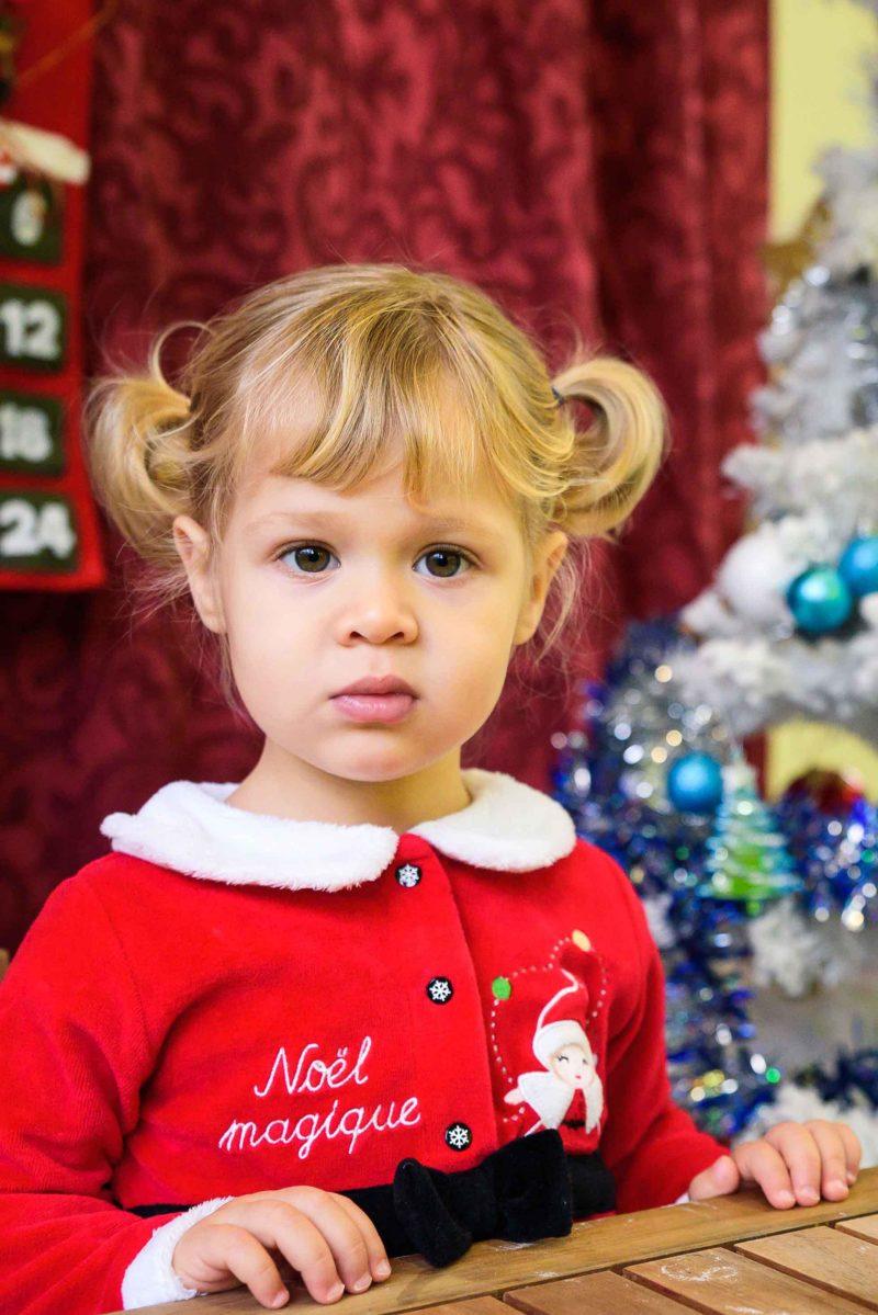 portrait bebe fille pour Noel