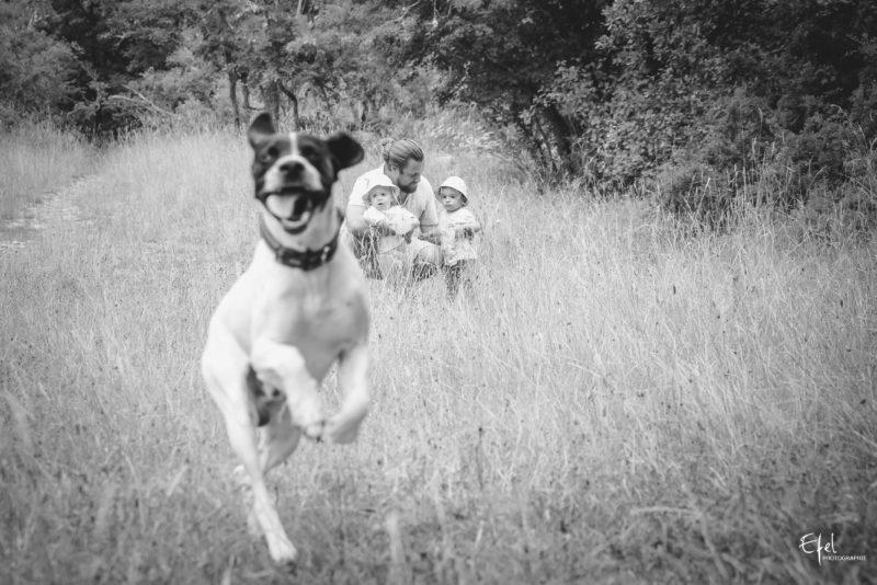 photo famille et chien photographe la batie neuve