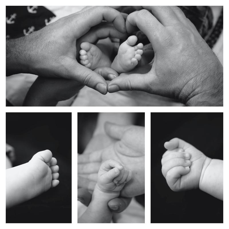 photo pieds et mains nouveau né