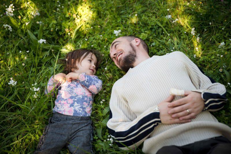 photo fille et son papa