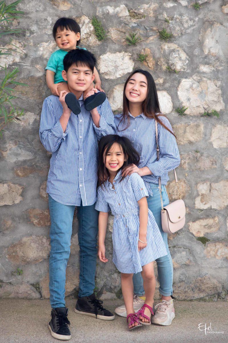 photo groupe famille enfants