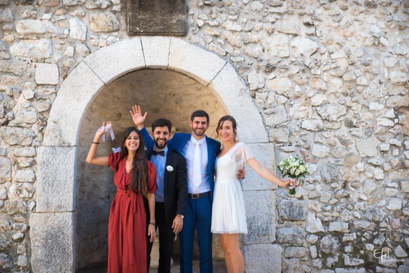 Reportage mariage mariés et témoins