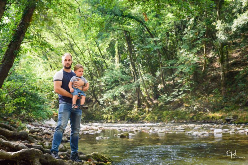 Photo lisfetyle papa bébé Gap
