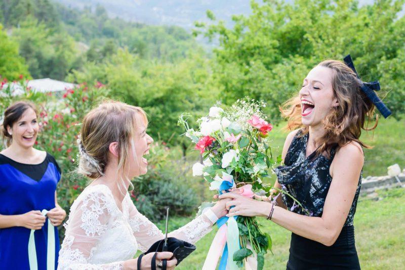 elle a gagné le bouquet