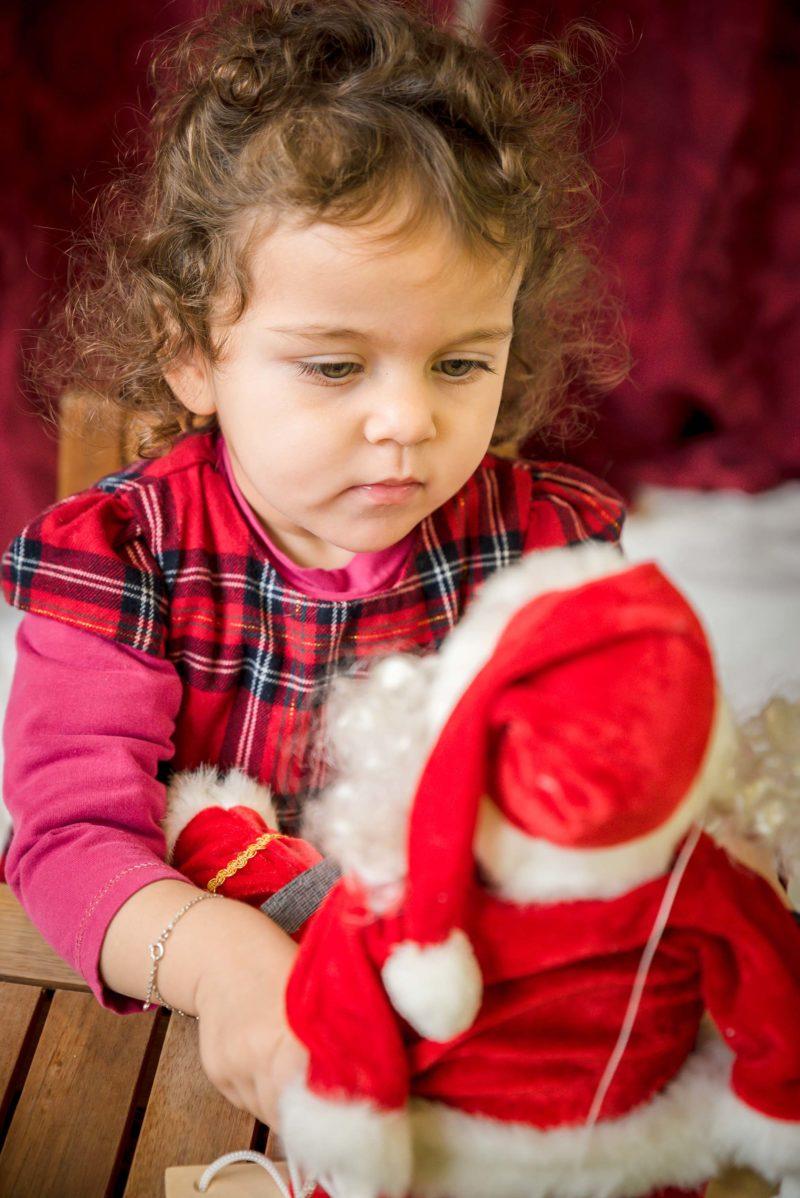 enfant et père Noel