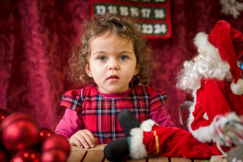bebe et père Noel