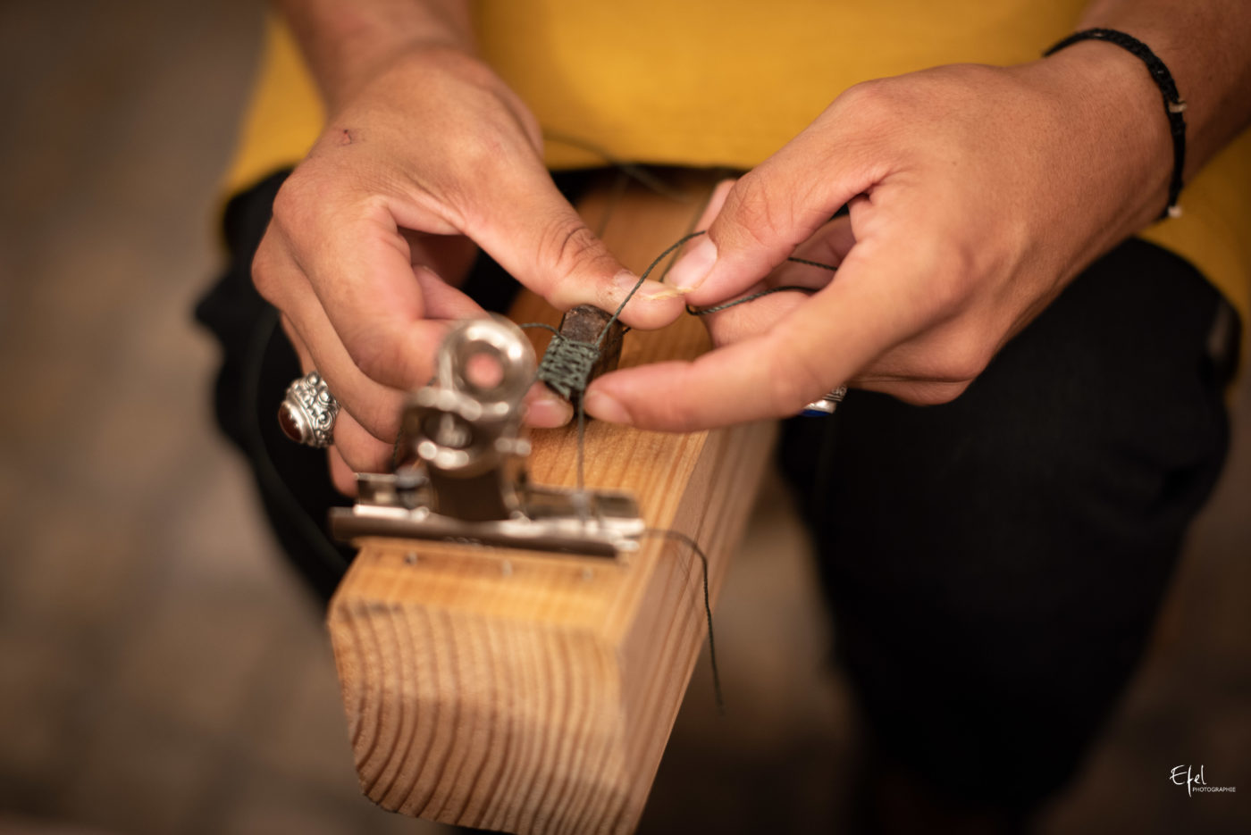 Photo artisan au travail