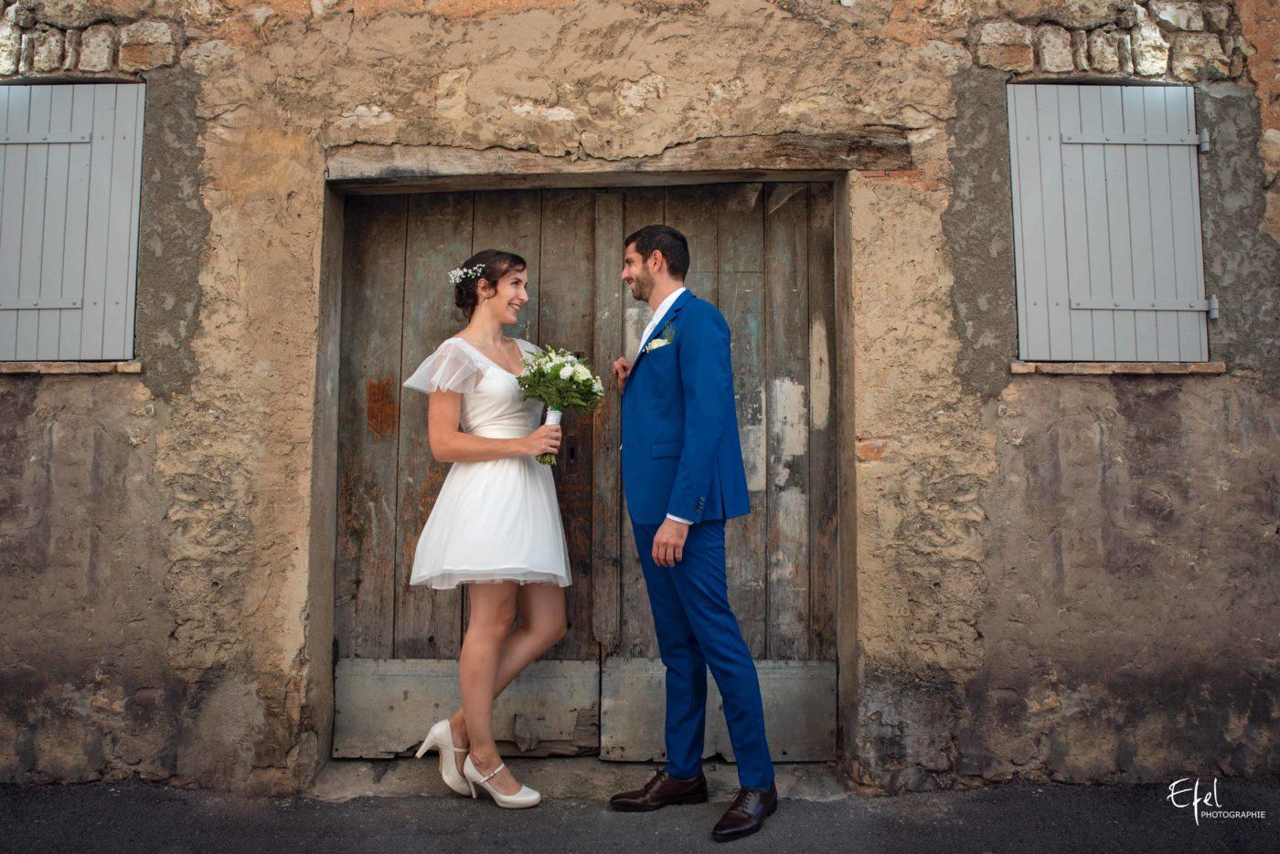 shooting couple de mariage - mariage dans les alpes-maritimes à Tourrettes-sur-Loup sur loup