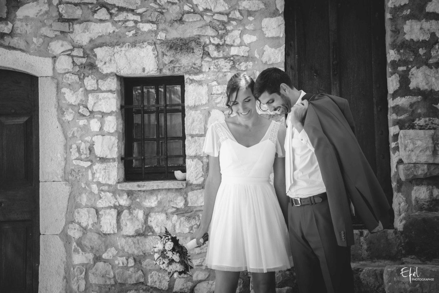 Shooting couple des mariés avant la cérémonie - mariage gap, mariage alpes maritimes