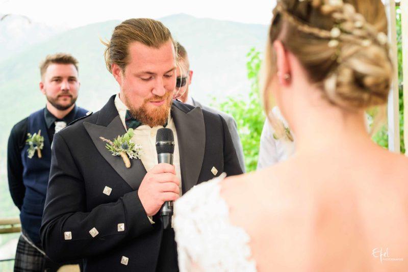 photo cérémonie mariage laïque à Gap