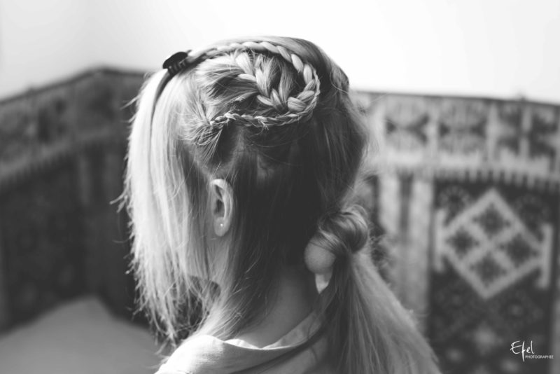 photos préparatifs coiffure de la mariée mariage en PACA