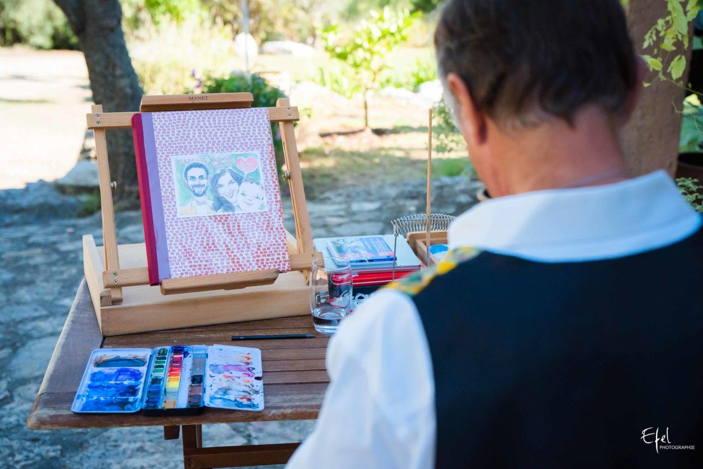 Ripo dessine l'album de mariage des mariés - photographe de mariage gap et hautes alpes