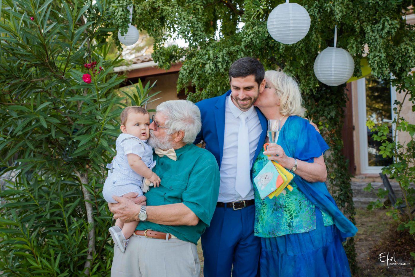 Le marié et sa famille - mariage gap