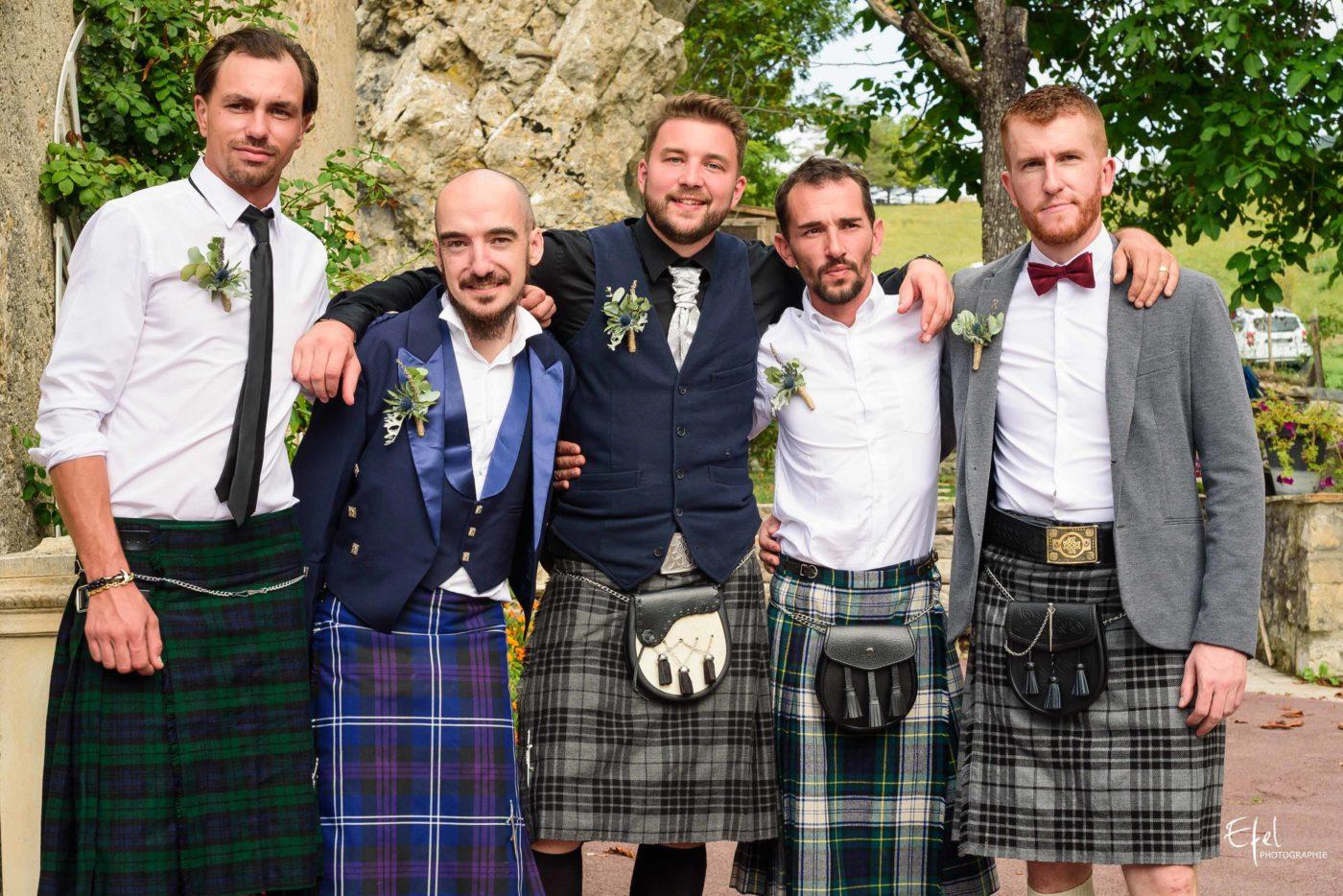 Mariage original en kilt à Entrevaux dans les Alpes Maritimes