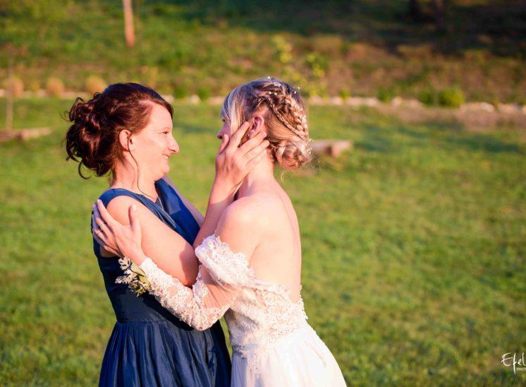 Photo de la mariée et ses amis - mariage alpes maritimes