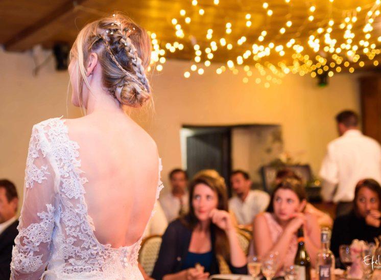 photo soirée de mariage la robe de la mariée photographe mariage embrun