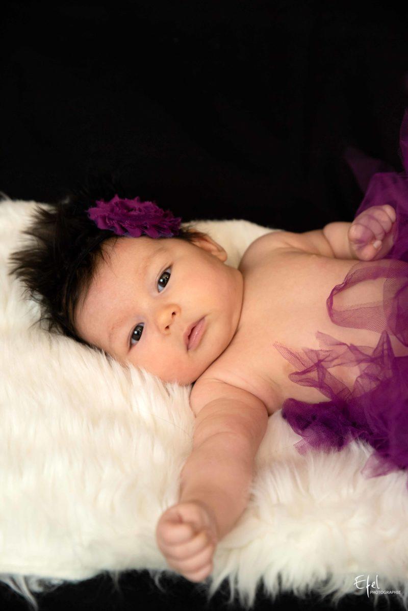 photographe bébé briançon bébé tutu rose