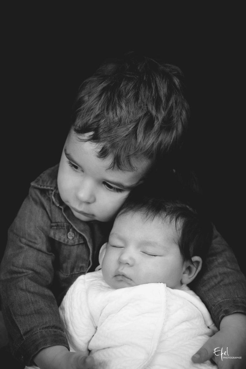 photographe bébé gap - bébé et son frère