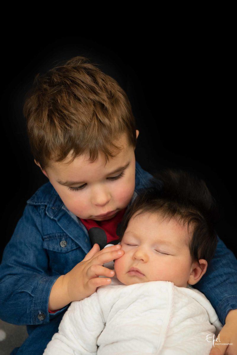 Photographe bébé gap bébé et grand frère