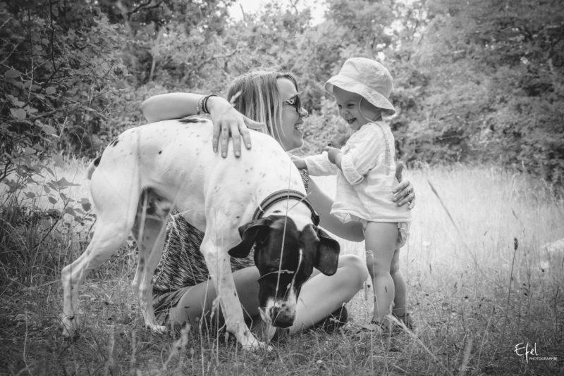 Shooting photo famille bebe col de vence