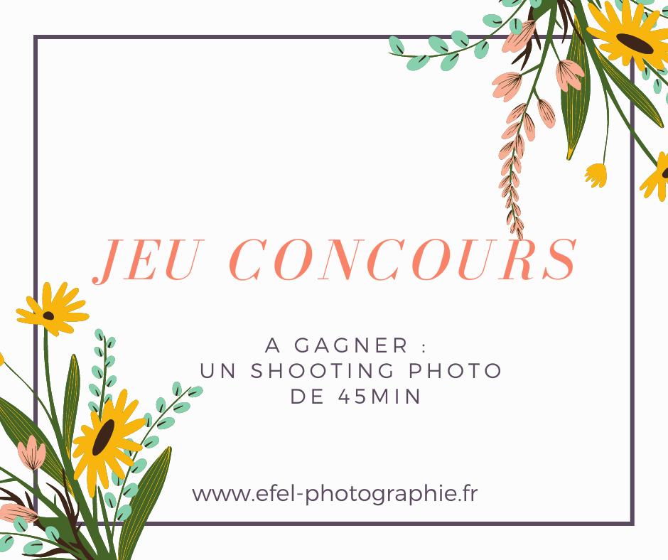 Jeu concours de printemps efel photographie photographe gap un shooting photo à gagner