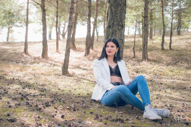 Photos de portrait en forêt près de gap