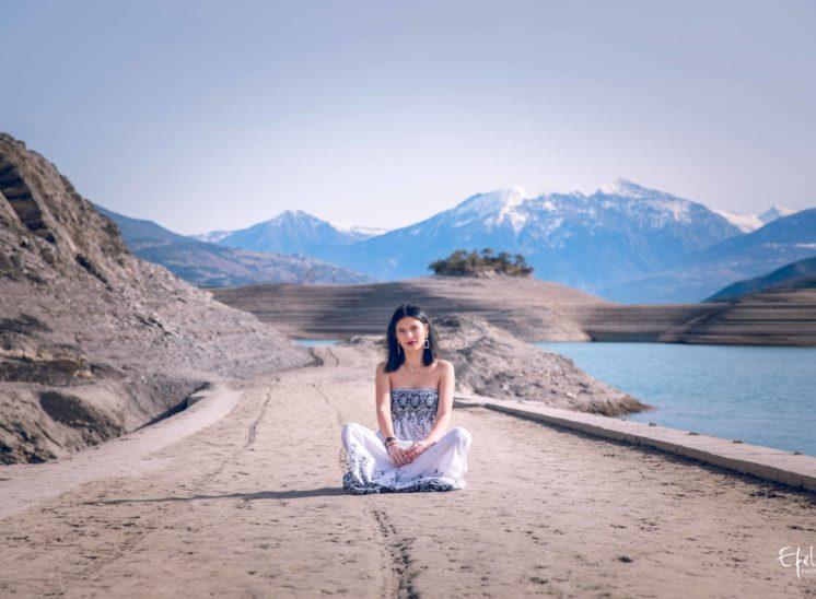 Photographe à gap portrait nature au lac de serre ponçon