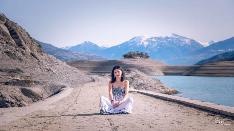 photographe gap portrait nature au lac de serre-ponçon