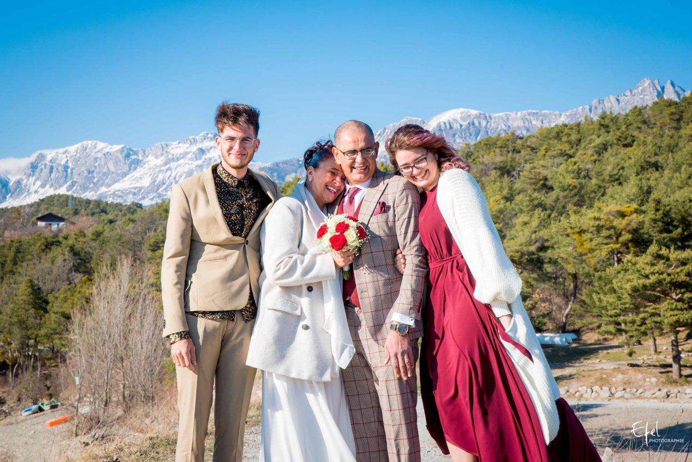 mariage gap shooting en famille
