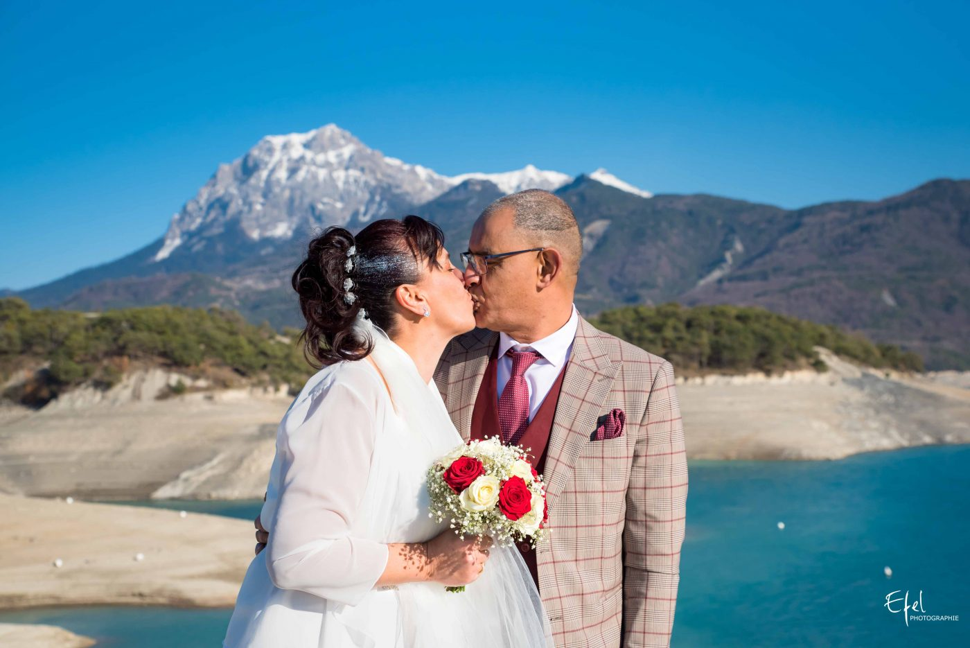 shooting mariage gap en montagne serre ponçon