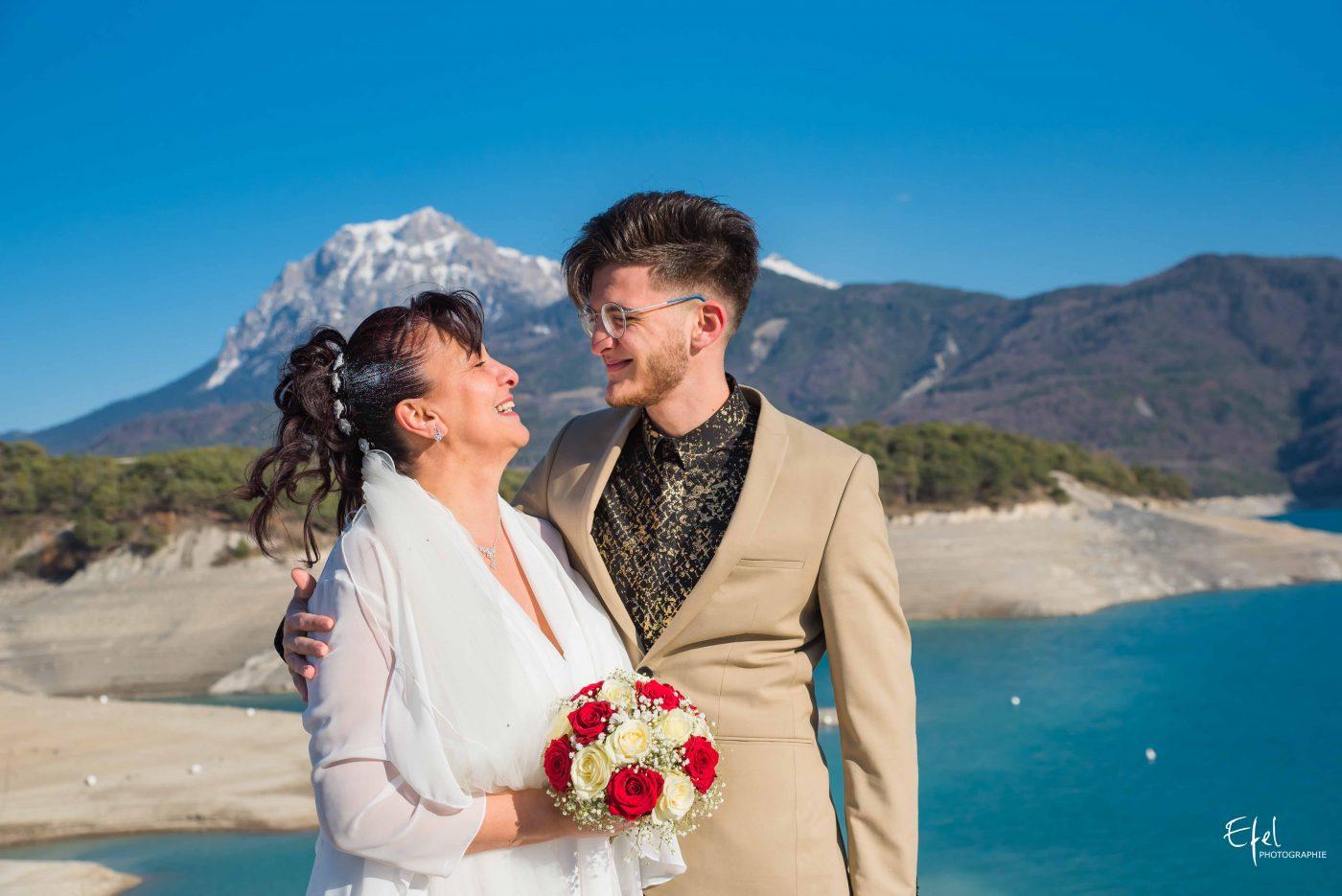 Shooting famille mariage lac de serre ponçon