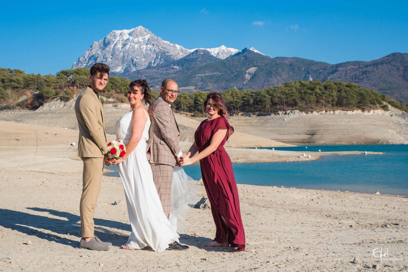 Shooting famille mariage en montagne photographe hautes alpes