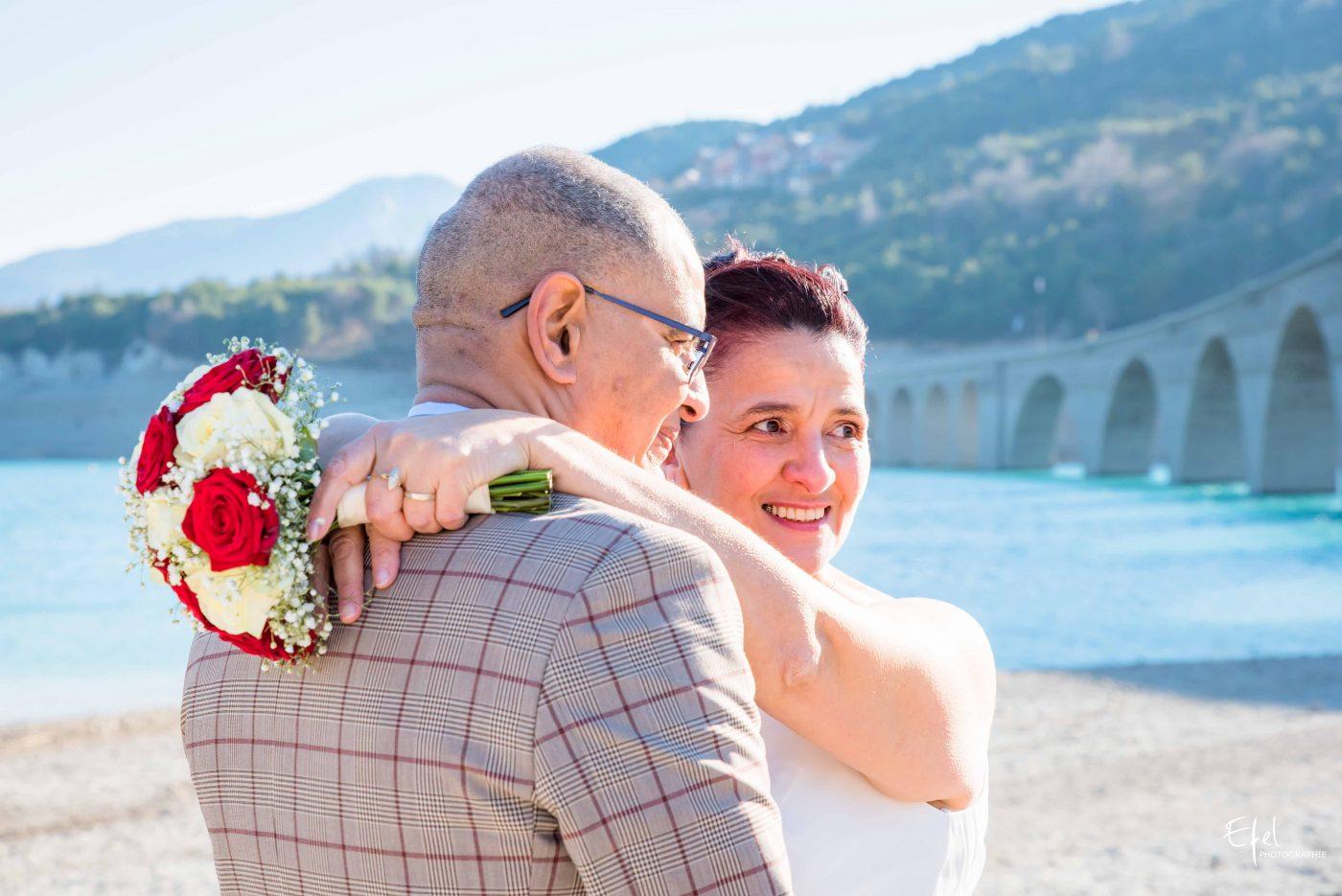 La mariée et son époux photographe gap